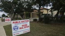 This Mediterranean style home located in Cibolo Canyons on San Antonio's North Side was auctioned off by the U.S. Government for $690,000 to winning bidder Karim Charania. The home was seized from former Coahuila, Mexico treasurer Hector Javier Villarreal. A lot next door was also sold for $100,000 to a different bidder who would not release their identity.