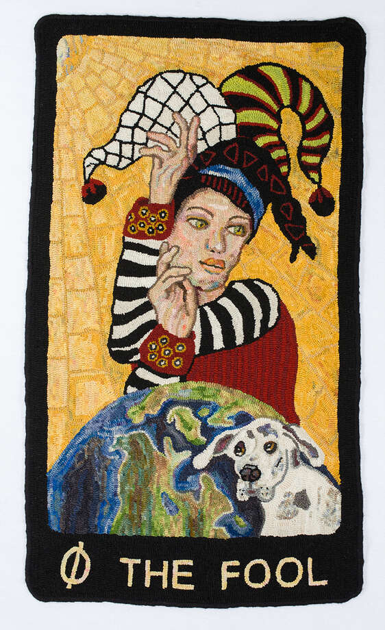 """The Fool,"" by fiber artist Diane Phillips. (Anne-Marie Littenberg)"
