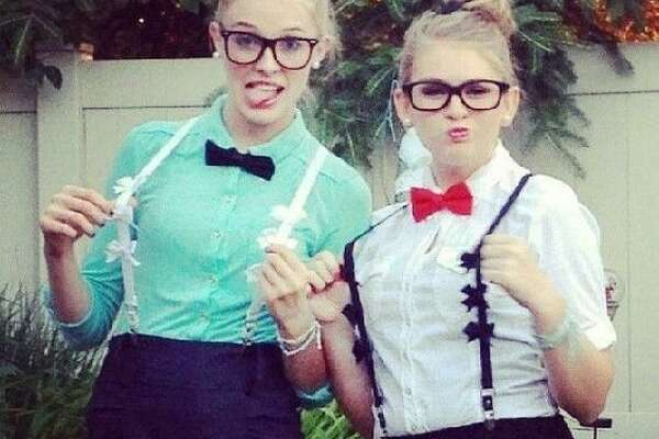 Nerds    What you'll need: - Glasses - Suspenders (other accessories optional) 