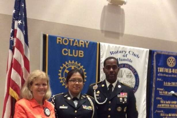 The Rotary Club of Humble awarded Humble High School senior Kate Hernandez with the Leader of Tomorrow award during their Oct. 12 luncheon meeting.