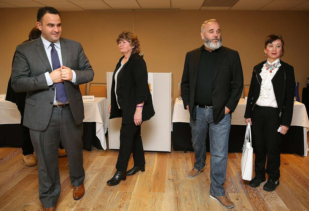 Left to right--Kevin Sabet, Patti Smith, Sean Kiernan, and Dr. Evelyn Li spoke about present pitfalls of Proposition 64 at the Hilton Hotel on Thursday, October 27, 2016, in San Francisco, Calif. Some of the California's most recognized medical marijuana leaders to join forces in opposing Prop 64, the ballot measure to legalize weed in the state.