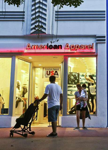 American Apparel Inc. is preparing for its second bankruptcy filing in as many years, according to people familiar with the situation, capping a tumultuous stretch that included tumbling sales, red ink and a split with controversial founder Dov Charney. Photo: Scott McIntyre /Bloomberg News / © 2016 Bloomberg Finance LP