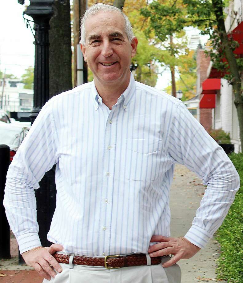 Longtime Darien resident, Randy Klein, seen here in downtown Darien, CT, is running against incumbent Terrie Wood for state representative for Darien and Rowayton. The election is November 8, 2016. Photo: Erin Kayata / Hearst Connecticut Media / Darien News