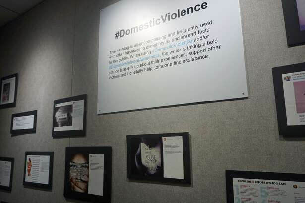 """This month, the Gertrude White Gallery at the YWCA displays """"Hashtag That! Social Media's Impact on Domestic Violence."""" The show brings to light how social media influences the conversation on domestic violence."""