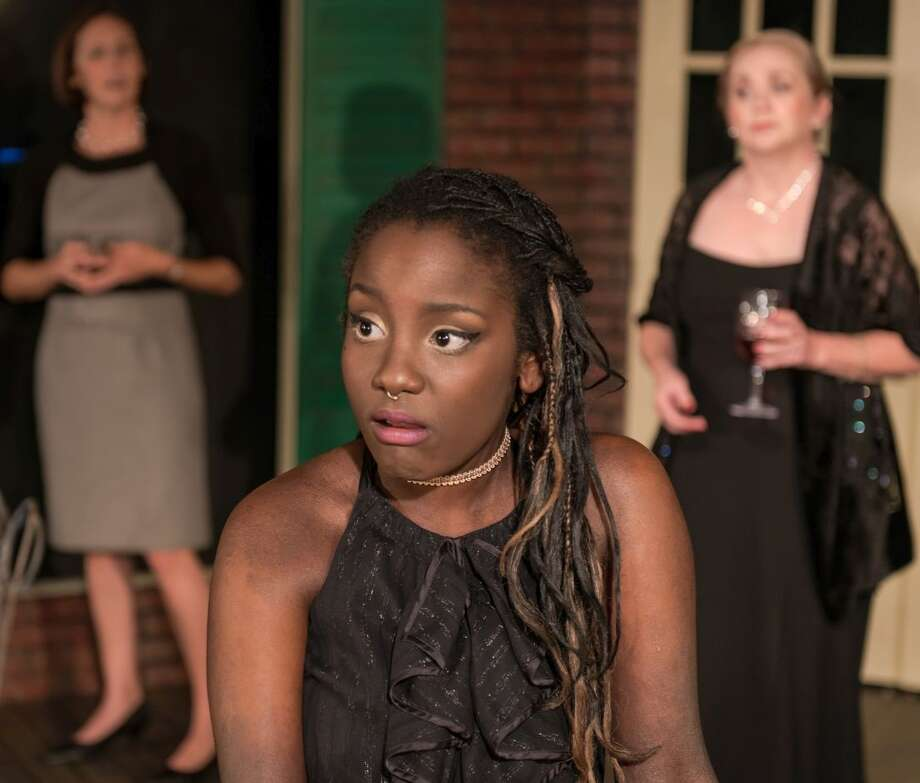 "Aurora Chase (center), Ila Handy (left) and Whitney Marlett (right) star in ""Jackson Square"" at the Overtime Theater. Photo: Courtesy Siggi Ragnar / sRagnar Fotografi"