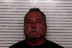 "Brett Mauthe, 55, of Bulverde, was charged with ""electioneering,"" a misdemeanor, for wearing Trump campaign garb to a polling place on Monday, Oct. 24, 2016."