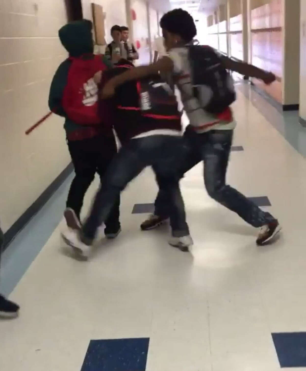 A La Porte school fight has gone viral due to social media and the school is increasing security to ensure incidences like this don't happen again.
