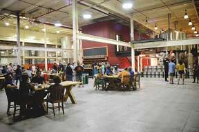 Tasting Room at the 21st Amendment Production Brewery in San Leandro, California
