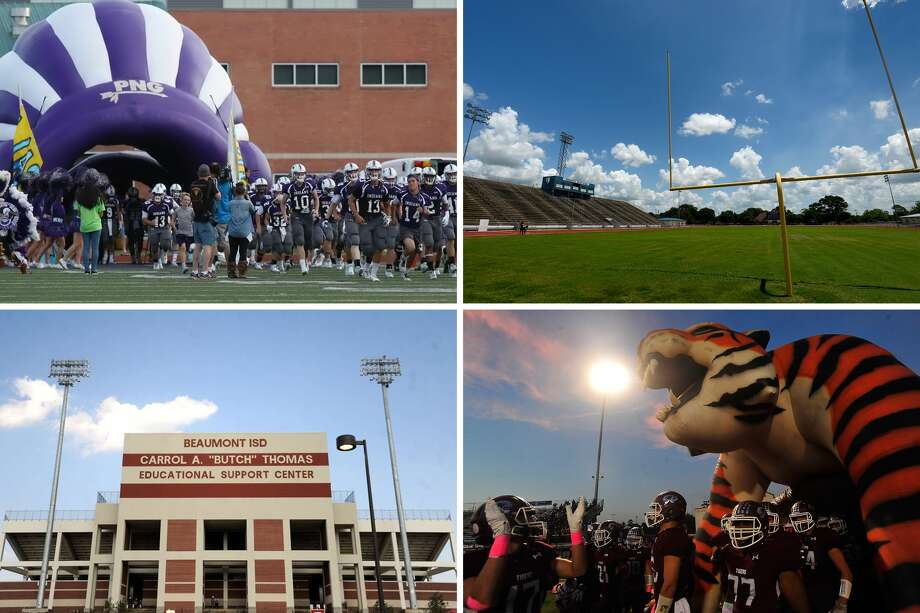 Enterprise Sports chose the 10 best high school football stadiums in Southeast Texas. Keep clicking to see the staff's choices (named in order of crowd capacity).