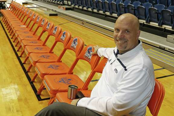 UTSA basketball coach Steve Henson poses at media day at the Convocation Center on Oct. 27, 2016.