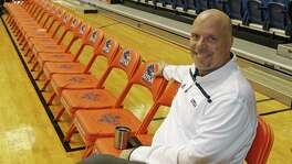 UTSA men's basketball coach Steve Henson poses at media day at the Convocation Center on Oct. 27, 2016.