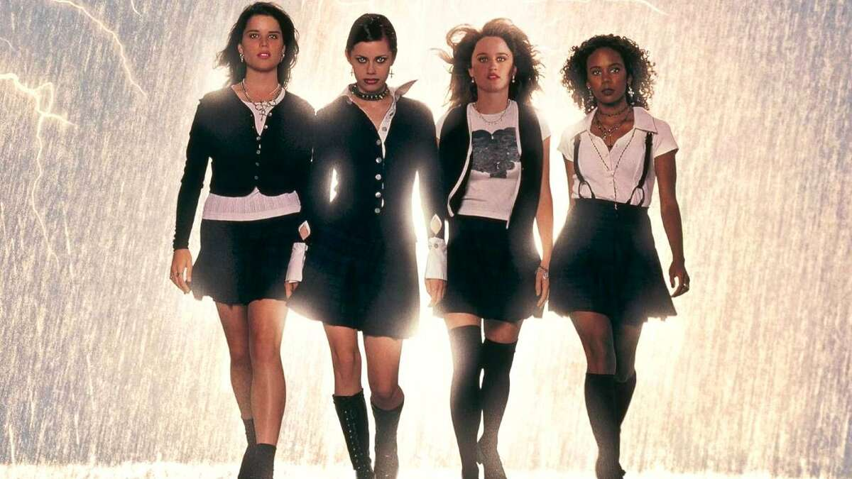 """The Craft (1996)Watch: CrackleGenre: Drama/HorrorDescription: Having just moved to Los Angeles, Sarah (Robin Tunney) is an outsider at St. Benedict's Academy until she meets three other social outcasts. Nancy (Fairuza Balk), Bonnie (Neve Campbell) and Rochelle (Rachel True) will never fit in with the """"in"""" crowd. But together with Sarah, they learn that being an outsider has its own kind of power. Nancy, Bonnie and Rochelle dabble in the occult, and when they notice Sarah has the powers of a natural witch, they talk her into joining their coven. With the addition of a fourth witch they find they can cast spells they couldn't before, and the teenage witches are suddenly not only able to get the attention, praise and love they have long been denied-but also to exact vengeance on classmates, parents and boyfriends. They learn, however, that everything comes with a price."""