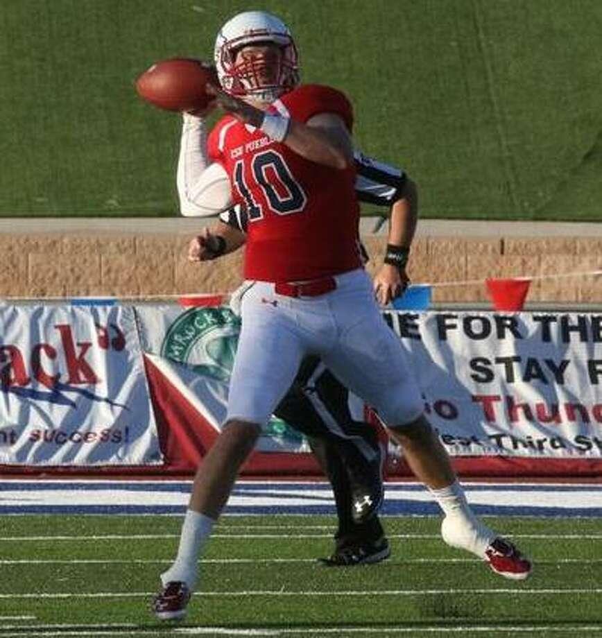 Colorado State-Pueblo quarterback Rex Dausin (10), a former Warren High School star, in action during the 2016 season. Photo: Courtesy Photo / Colorado State-Pueblo