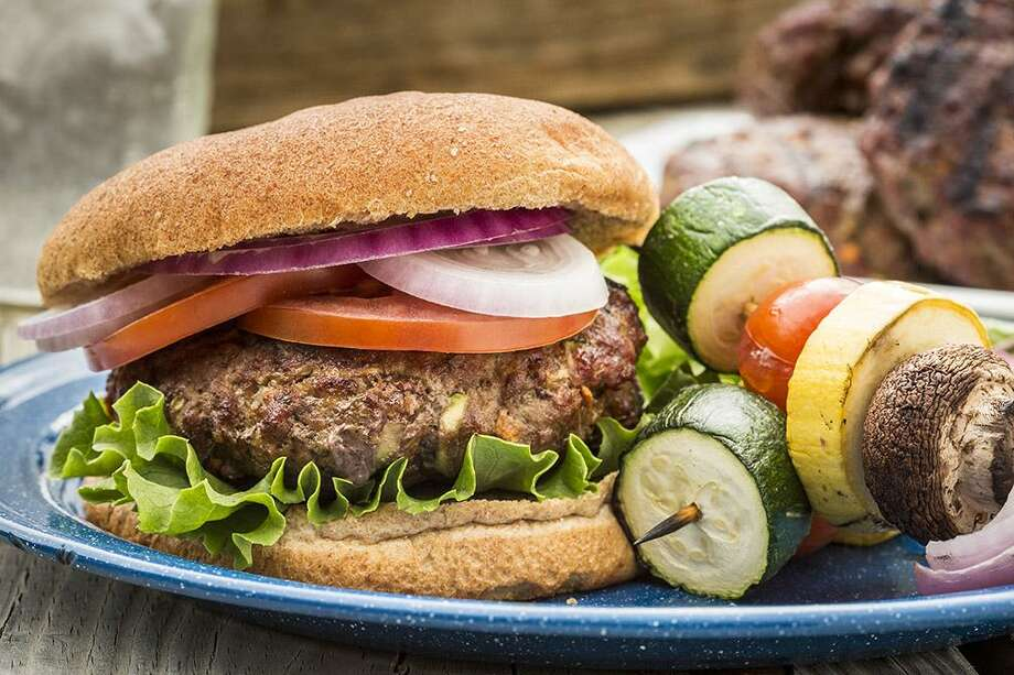 Beef and Veggie Burger from the Texas Beef Council Photo: Courtesy Texas Beef Council