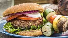 Beef and Veggie Burger from the Texas Beef Council