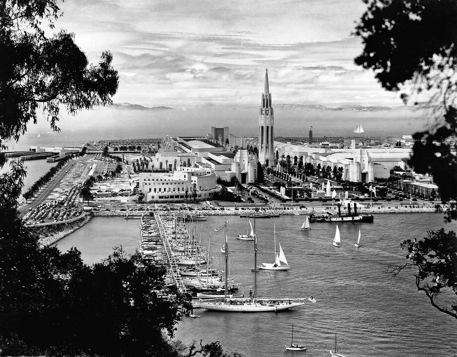 The view from the Bay Bridge of man-made Treasure Island and the Golden Gate Exposition had a futuristic look in 1939. Photo: Underwood Archives, Getty Images