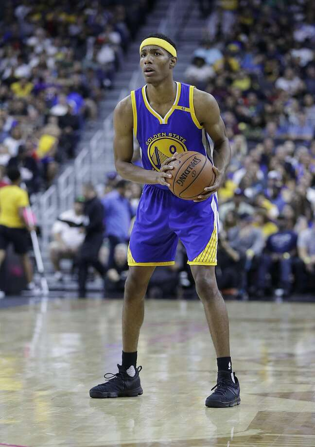 Golden State Warriors' Patrick McCaw (0) plays against the Los Angeles Lakers during an NBA preseason basketball game Saturday, Oct. 15, 2016, in Las Vegas. (AP Photo/John Locher) Photo: John Locher, Associated Press