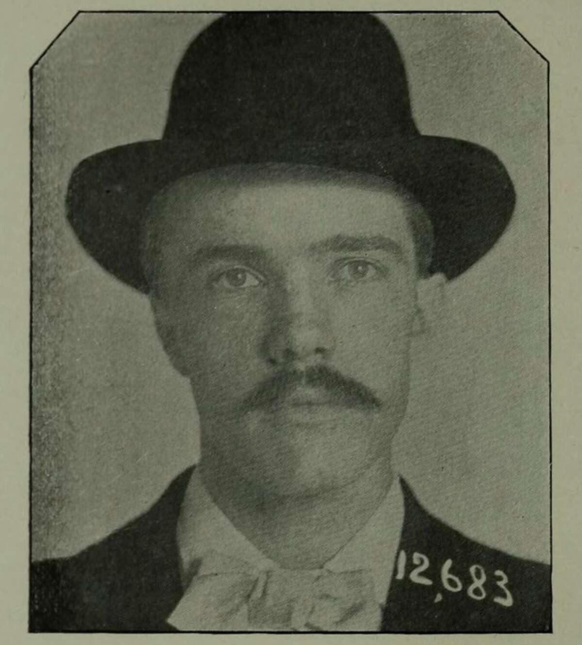 The mugshot of Theodore Durrant, the infamous Demon of the Belfry.