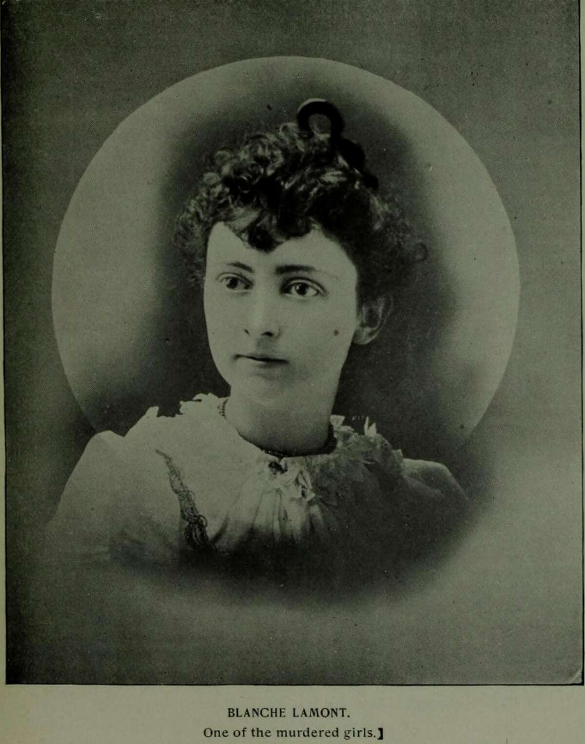 A photograph of Blanche Lamont, Durrant's first victim.