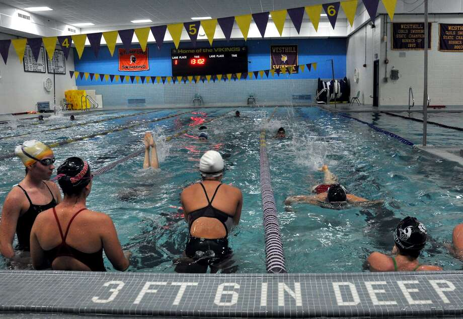 westhill stamford girls swim team parents at odds over coach s suspension stamfordadvocate
