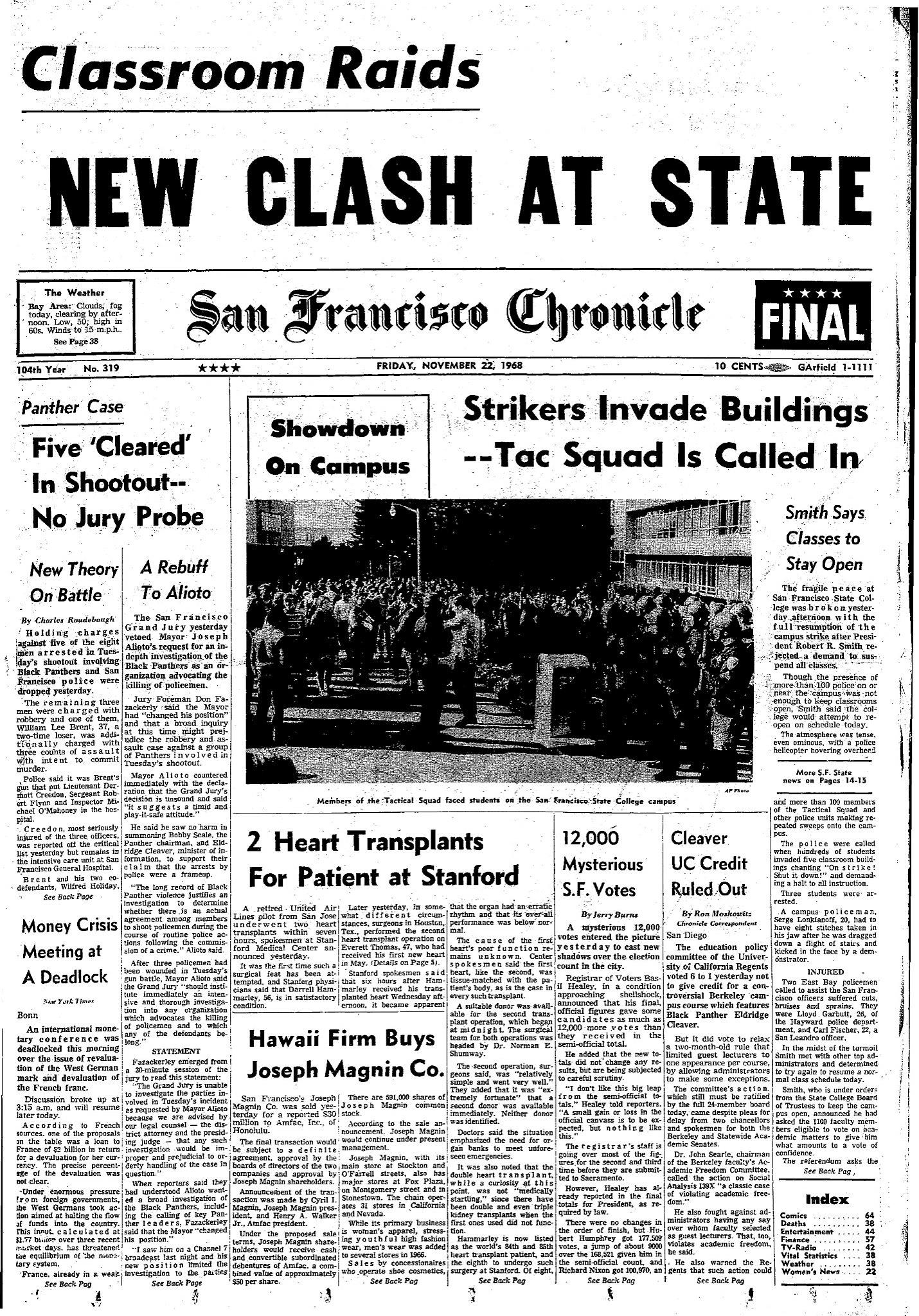 Chronicle Covers: The powerful San Francisco State strike ...