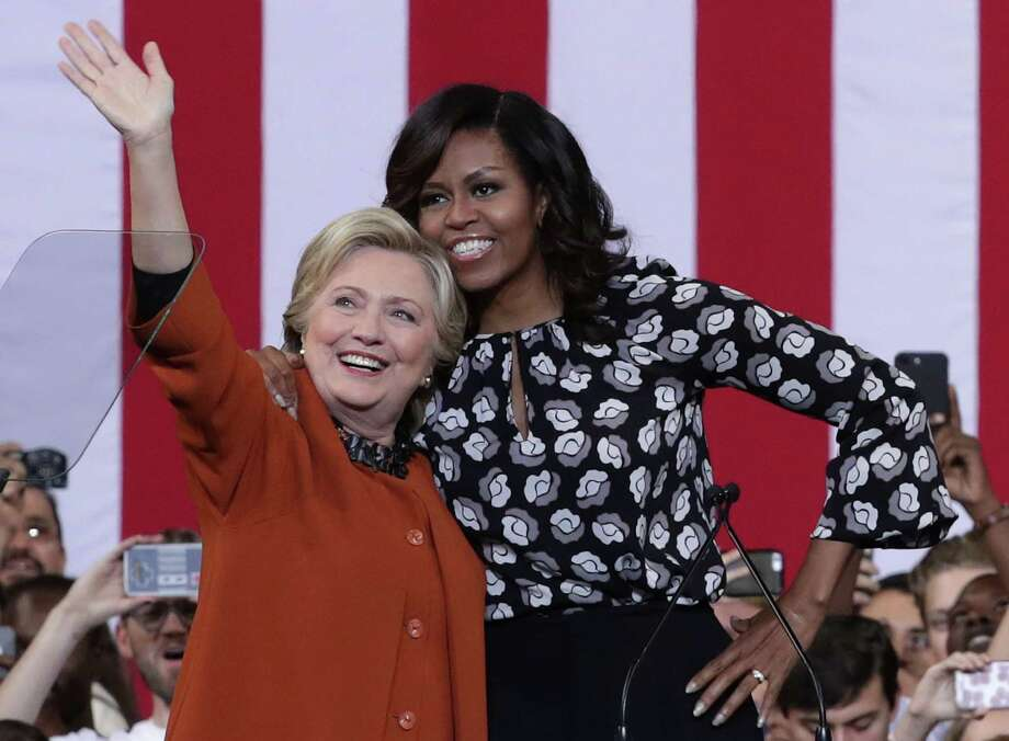 A campaign event Thursday in Winston-Salem, N.C., marked the first time first lady Michelle Obama joined Hillary Clinton for the presidential election. Photo: Alex Wong, Staff / 2016 Getty Images