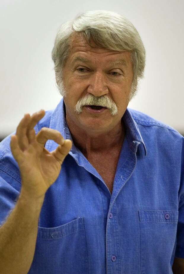 Bela Karolyi addressed the media during USA Gymnastics National Team training at the Karolyi Ranch,  Wednesday, May 7, 2008, in New Waverly, Texas. ( Smiley N. Pool / Houston Chronicle ) Photo: Smiley N. Pool, Staff / © 2008 Houston Chronicle