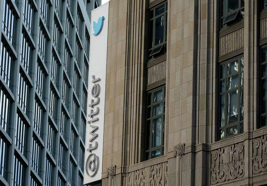 This Wednesday, Oct. 26, 2016, photo shows a sign at Twitter headquarters in San Francisco. Twitter announced Thursday it is cutting about 9 percent of its employees worldwide. The company's third quarter performance topped Wall Street's expectations. (AP Photo/Jeff Chiu) ORG XMIT: CAJC103 Photo: Jeff Chiu / Copyright 2016 The Associated Press. All rights reserved.