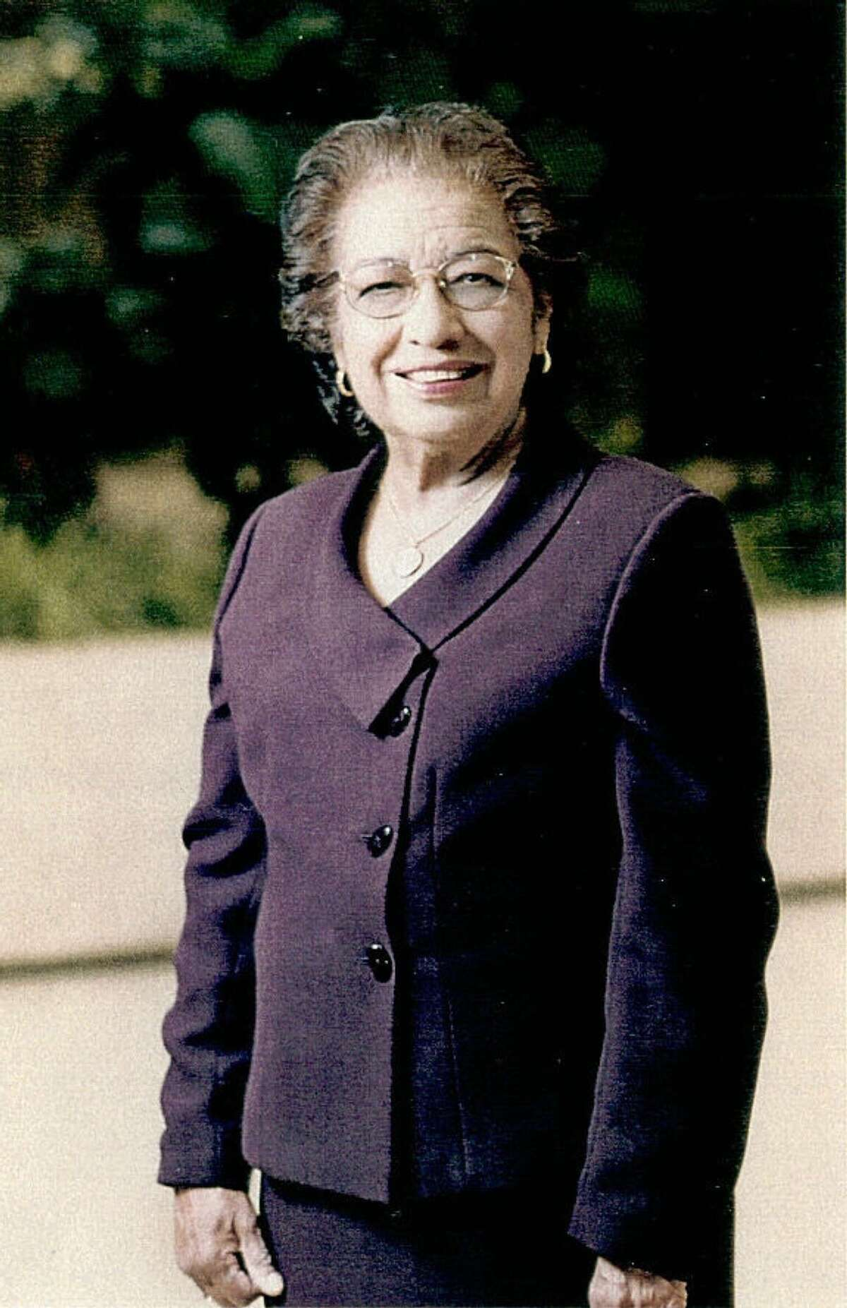 Olga Gallegos was the first Mexican American HISD board president.