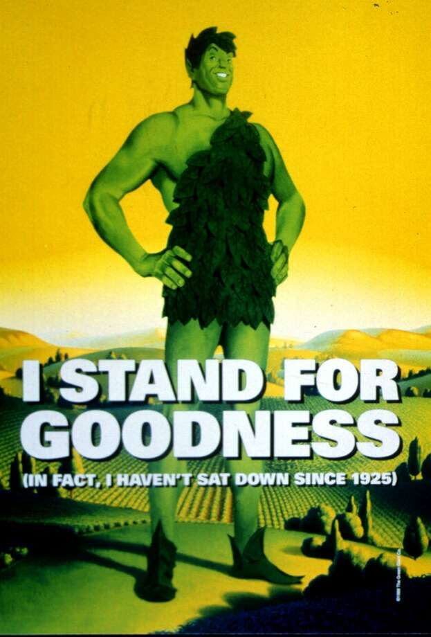 The Jolly Green Giant, shown in it's 1999 rendition, is returning after eight years of silence as the elder spokesman for the country's largest vegetable brand. Green Giant is bringing the voice onto its Web site and putting the big guy back into its print ads in a $20 million advertising and promotional campaign being announced Tuesday, August 10, 1999, to boost brand awareness as the giant approaches his 75th birthday. (AP Photo/Jim Mone) Photo: JIM MONE, HO