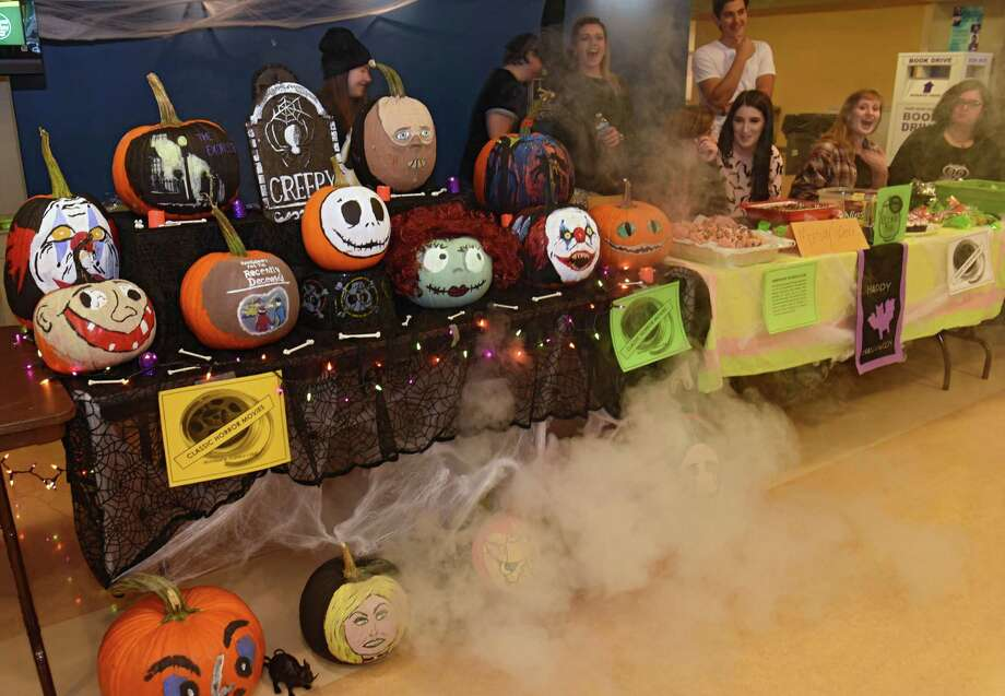 Pumpkins are seen at the Hudson Valley Community College campus center during a pumpkin decorating contest on Thursday, Oct. 27, 2016 in Troy, N.Y. (Lori Van Buren / Times Union) Photo: Lori Van Buren / 20038560A