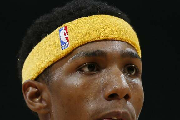 This a headshot of basketball player Patrick McCaw. Patrick McCaw is an active basketball player for the Golden State Warriors as of Oct. 25, 2016 in the NBA. (AP Photo/David Zalubowski)