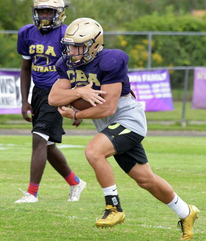 Christian Brothers Academy running back Nick DeNicola during practice at the school Thursday Sept. 1, 2016 in Colonie, NY. (John Carl D'Annibale / Times Union) Photo: John Carl D'Annibale / 20037870A