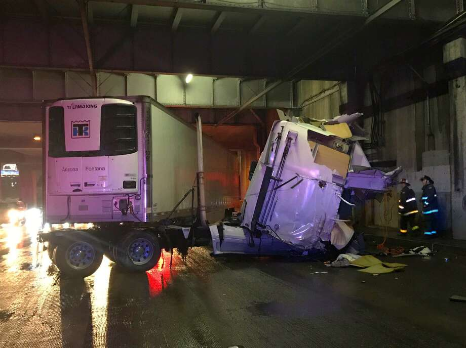 A jackknifed big rig leaking fuel caused major delays on eastbound Interstate 80 eastbound early Friday.