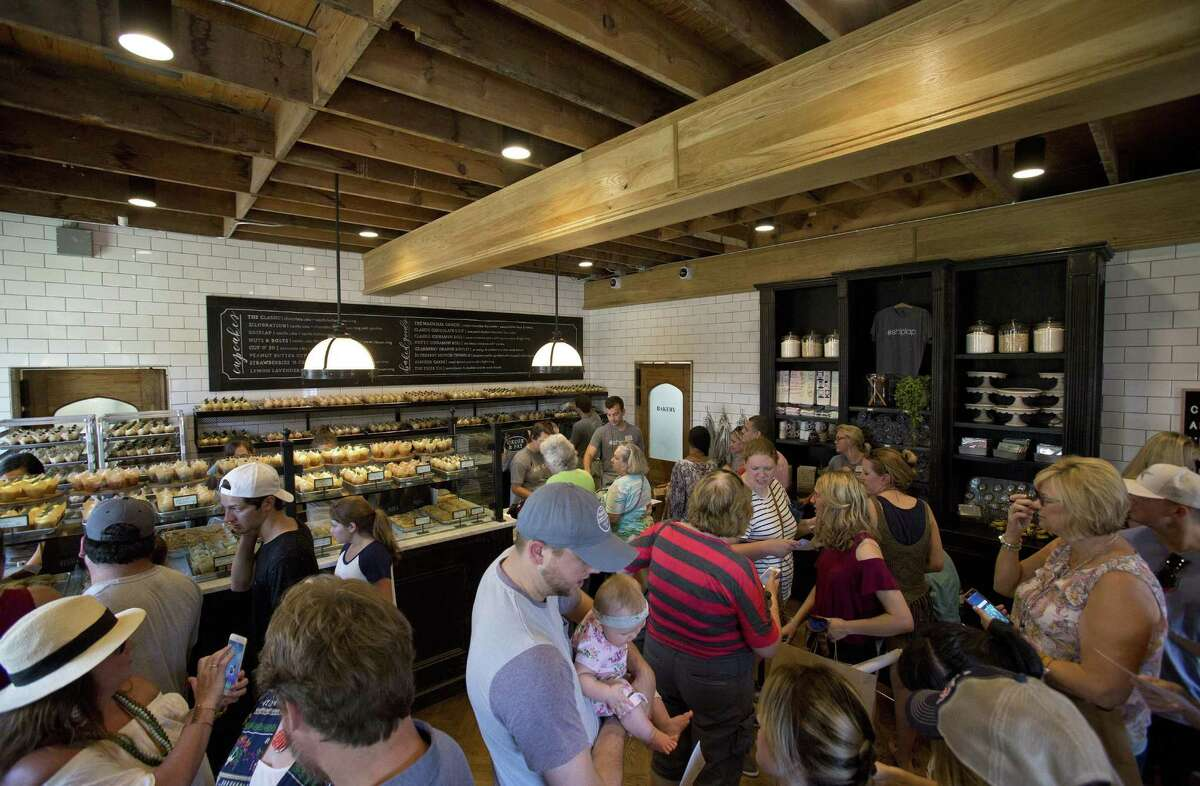 Shoppers inside Magnolia Market at the Silos.