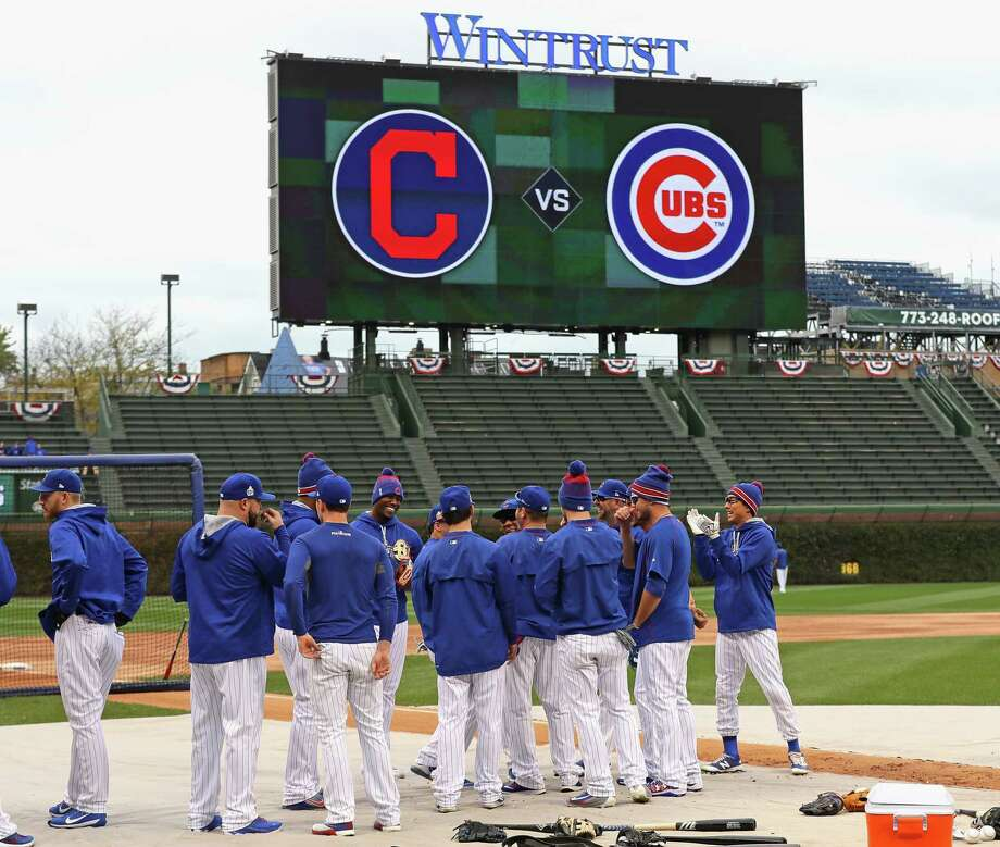 CHICAGO, IL - OCTOBER 27:  Members of the Chicago Cubs prepare to work out at Wrigley Field on October 27, 2016 in Chicago, Illinois. The Cubs play the Cleveland Indians in game 3 of the World Series on Friday, October 28. Photo: Jonathan Daniel, Getty Images / 2016 Getty Images