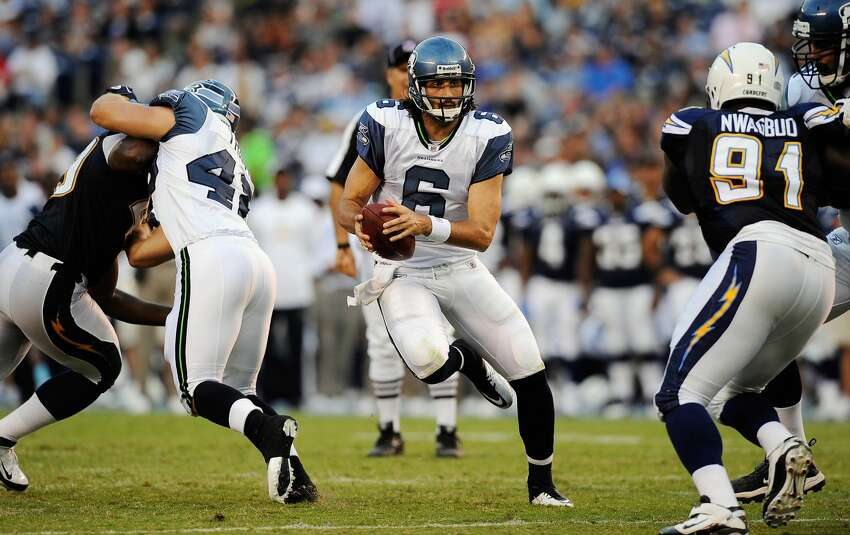 March 18, 2010 Seahawks get:QB Charlie Whitehurst (above), 2010 2nd-round pickChargers get:2010 2nd-round pick, 2011 3rd-round pick Notes: Whitehurst started just four games in two seasons with Seattle, but the swapping of second-round picks worked out for the Seahawks, who took Notre Dame receiver Golden Tate.