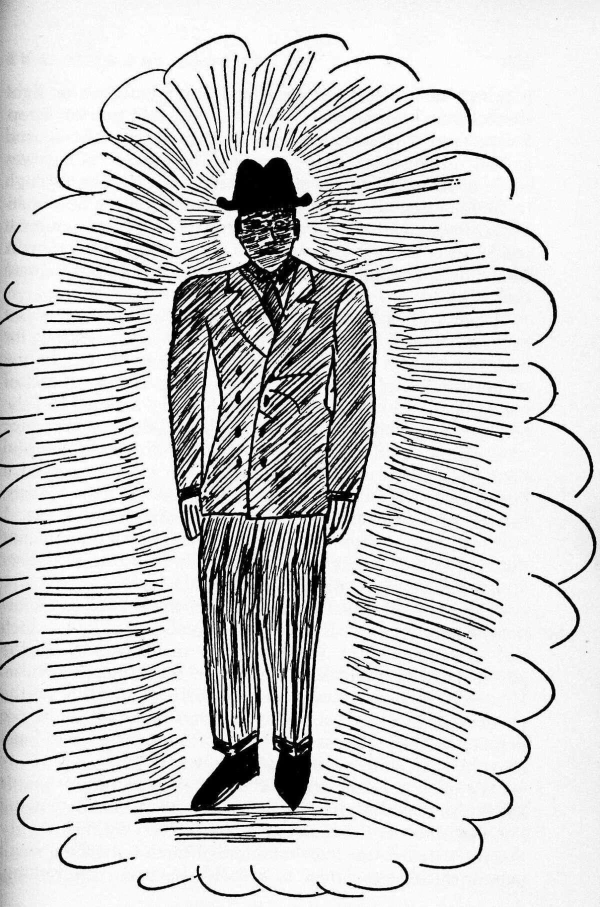 Bender's sketch of a Man in Black