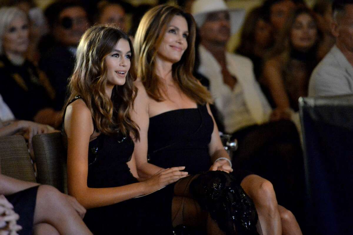 You're not seeing double: That's Cindy Crawford and her model daughter Kaia Gerber.