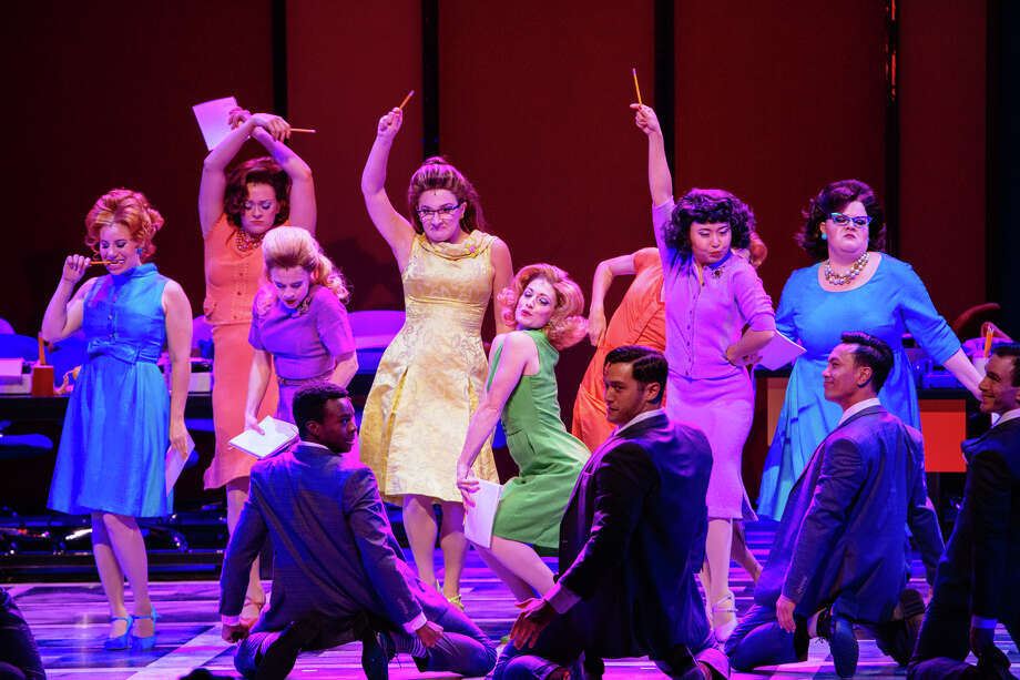 """The Cast of """"How to Succeed in Business without Really Trying."""" Photo: Os Galindo"""