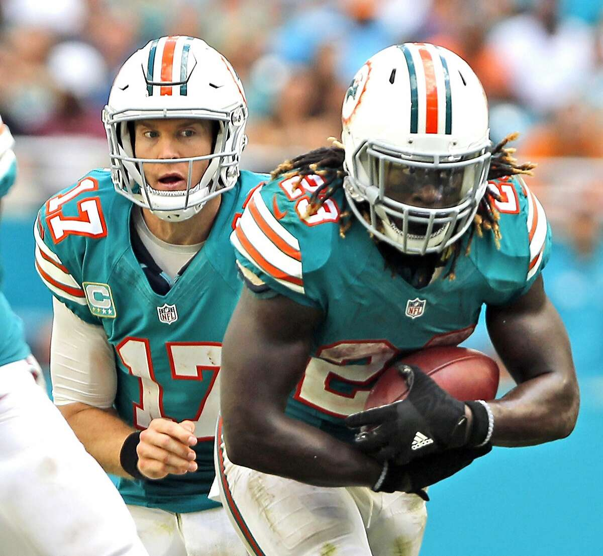 NY Jets (3-5) plus-3½ at Miami (3-4) Dolphins 23-17