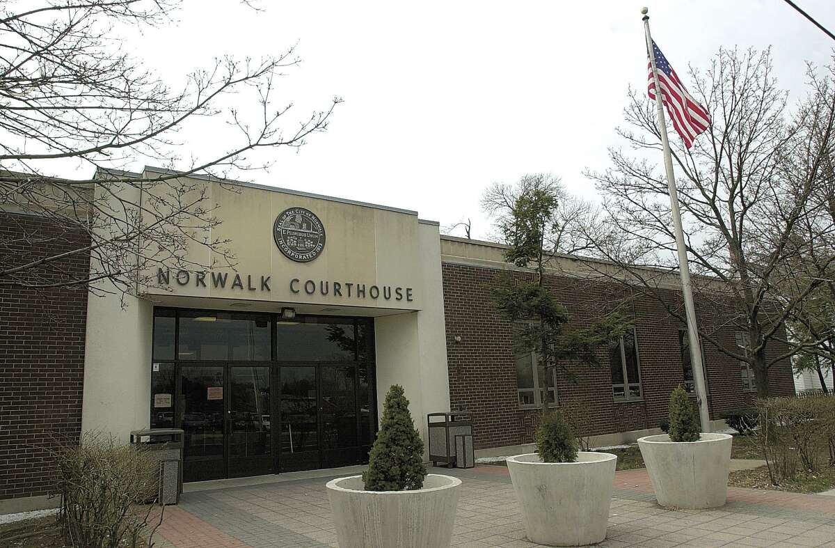 The front entrance to Norwalk Courthouse. Photo/Mel Greer COLOR