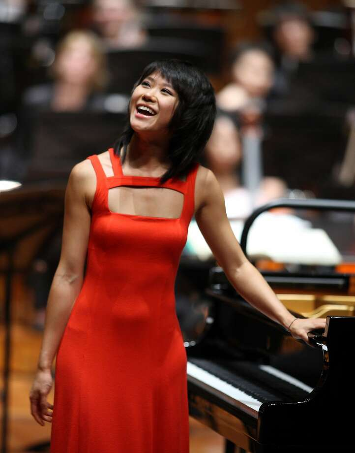 Pianist Yuja Wang Photo: SF Symphony