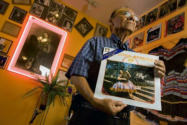 Salome Gutierrez, who died Thursday, displayed music memorabilia in his Tejas Music Museum, which was adjacent to Del Bravo Records on the West Side.