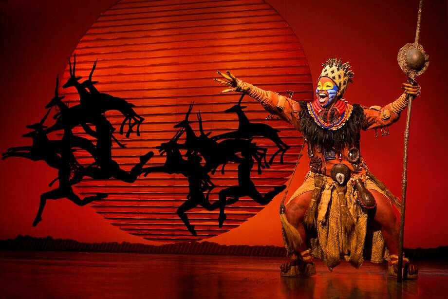"""Mukelisiwe Goba as Rafiki in SHN's """"The Lion King."""" Photo: Matthew Murphy, SHN"""
