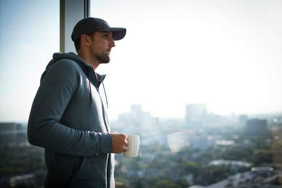 Houston Rockets forward Ryan Anderson enjoys a cup of coffee at his home in Houston, Monday, Oct. 3, 2016. Anderson joined the Rockets for the 2016-2017 season.  ( Marie D. De Jesus / Houston Chronicle )