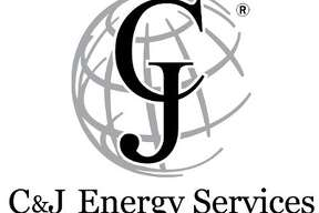 Logo of Houston-based C&J Energy Services, which announced in June 2014 that it would merge with the hydraulic fracturing business of Houston-based Nabors Industries in a $2.86 billion cash and stock transaction.