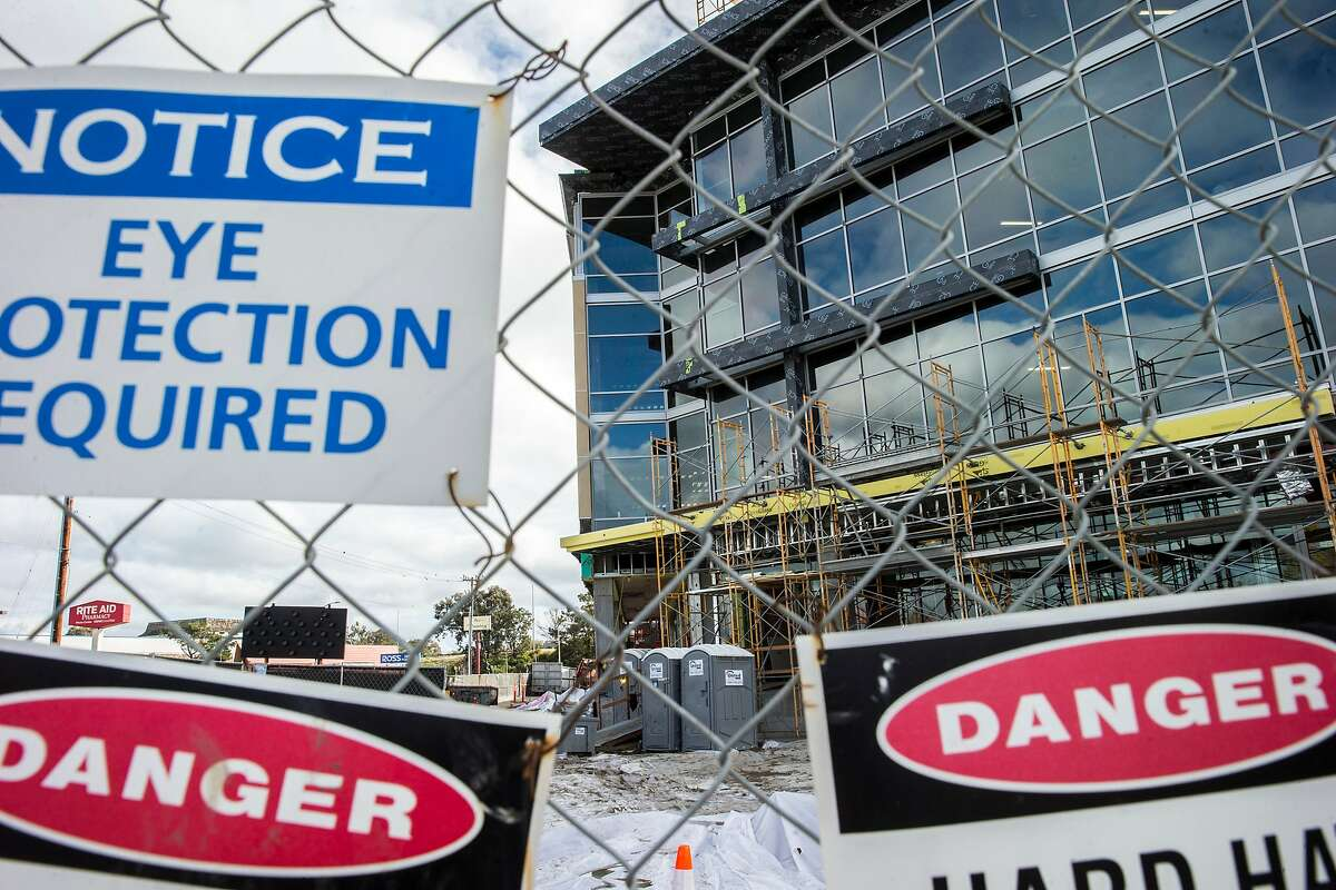 Construction at 400-450 Concar Drive, on Friday, Oct. 28, 2016 in San Mateo, Calif. A nearby Rite Aid, located at 666 Concar Drive, has filed a lawsuit against Hines, which is developing an office complex nearby at 400-450 Concar Drive. Rite Aid claims that the dewatering of the project caused Rite Aid's floors to sink, causing a lot of damage.