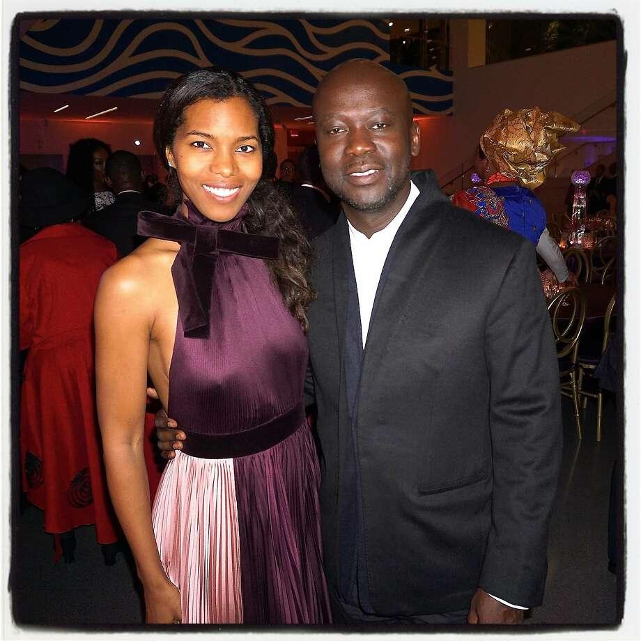 Ashley Shaw-Scott Adjaye and her husband, architect David Adjaye, at the Afropolitan Ball. Oct 2016. Photo: Catherine Bigelow, Special To The Chronicle