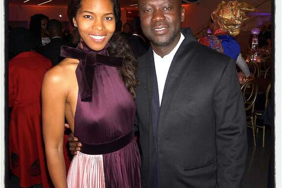Ashley Shaw-Scott Adjaye and her husband, architect David Adjaye, at the Afropolitan Ball. Oct 2016.